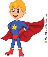 superhero, rysunek, koźlę