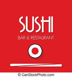 sushi, menu, restauracja, karta