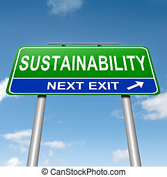 sustainability, concept.