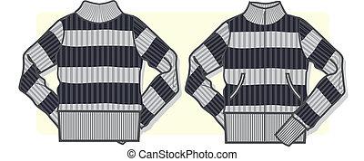 sweter, dama, zip-up