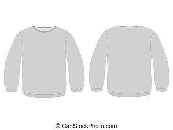 sweter, wektor, illustration., podstawowy