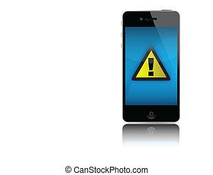 sygnał, iphone, nie