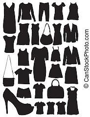 sylwetka, fason, odzież