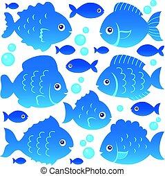sylwetka, fish, 2, komplet, temat