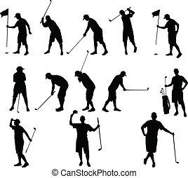 sylwetka, golf