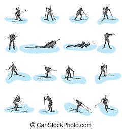 sylwetka, komplet, grunge, biathlon