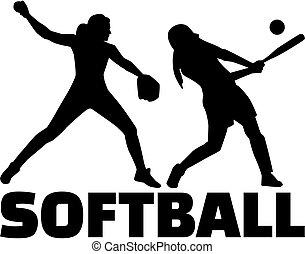 sylwetka, komplet, softball