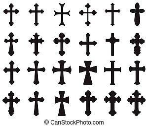 sylwetka, krzyże