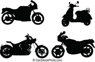 sylwetka, motorcycles