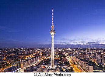 sylwetka na tle nieba, niemcy, berlin