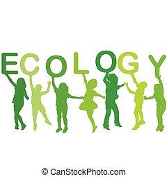 sylwetka, pojęcie, ekologia, dzieci