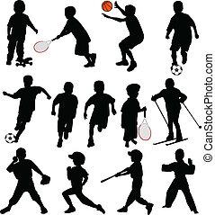 sylwetka, sport, dzieciaki