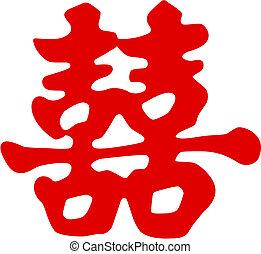 symbol, chińczyk, szczęście