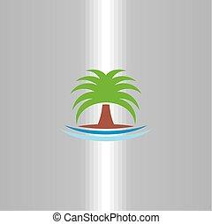 symbol, drzewo, wektor, dłoń, logo, ikona