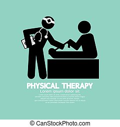 symbol, fizyczny, czarnoskóry, therapy.