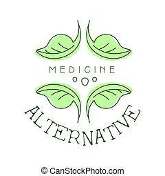 symbol, ilustracja, wektor, medycyna, logo, alternatywa