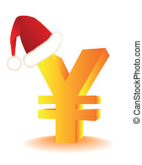 symbol, kapelusz, czerwony, santa, jen