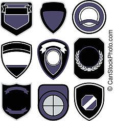 symbol, komplet, odznaka, tarcza