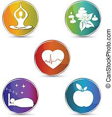 symbol, komplet, zdrowie