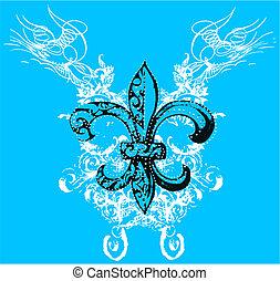 symbol, królewskość, woluta, tło