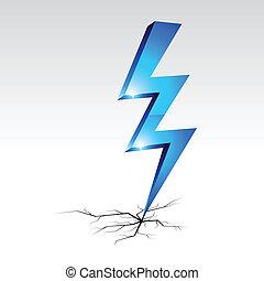symbol., ostrzeżenie, elektryczność