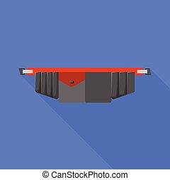 symbol., wektor, graficzny zamiar, illustration., pasek, instrument, toolbag, pień