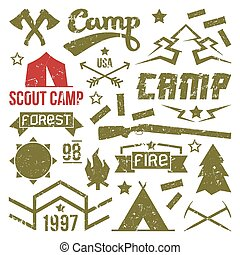 symbole, obóz, wywiadowca