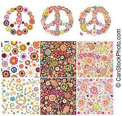 symboliczny, projektować, hipis
