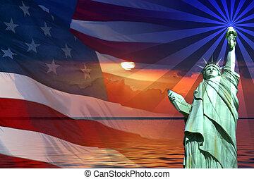 symbolika, ameryka, znaki