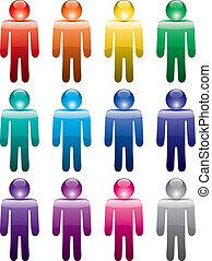 symbolika, barwny, człowiek