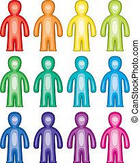 symbolika, barwny, ludzie