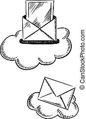 symbolika, e-poczta, chmury, beletrystyka