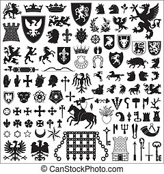 symbolika, elementy, heraldyczny