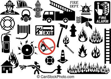 symbolika, firefighter, ikony