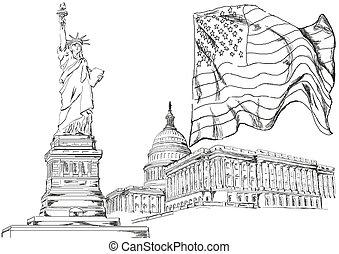 symbolika, główny kanał, ameryka