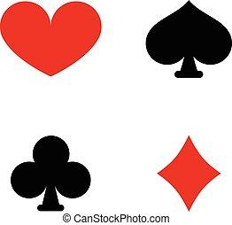 symbolika, grając kartę, garnitur