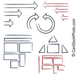 symbolika, handwritten
