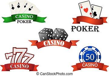 symbolika, hazard, emblematy, kasyno, albo