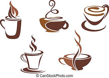 symbolika, kawa herbaty, ikony