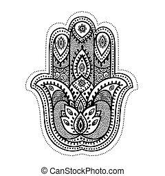 symbolika, komplet, indianin, dekoracyjny
