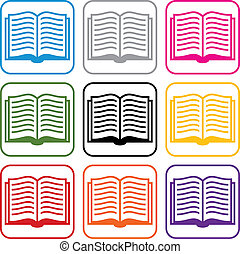 symbolika, książka, wektor