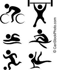 symbolika, lekkoatletyka, wektor