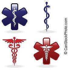 symbolika, medyczny, komplet