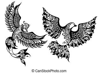 symbolika, ptaszki