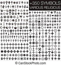 symbolika, religijny, różny, 350