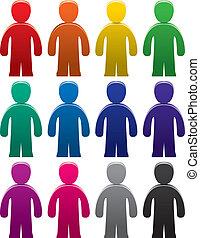 symbolika, samiec, barwny