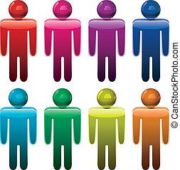symbolika, samiec, barwny, wektor