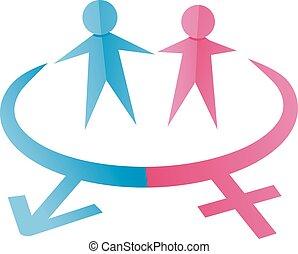 symbolika, samiec, samica