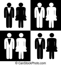 symbolika, toaleta, wektor