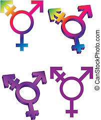 symbolika, transgender, ilustracja